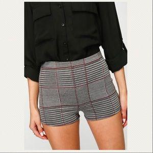 Pants - NWT Plaid High Waisted Shorts